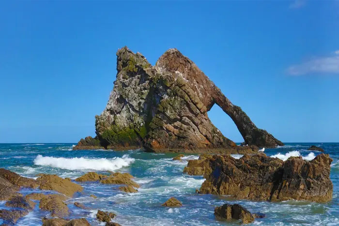 Places to visit in Scotland: Bow Fiddle Rock