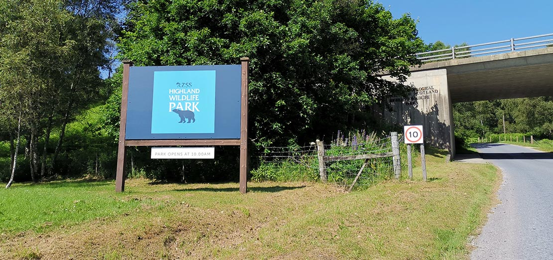 Arriving at Highland Wildlife Park