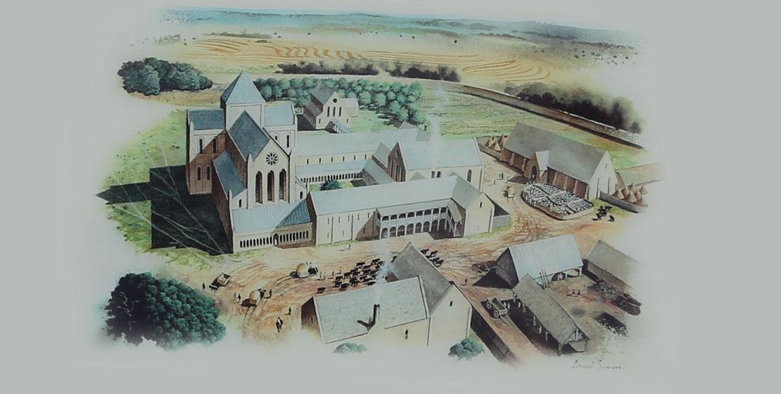Info board from Kinloss Abbey