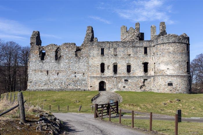 Balvenie Castle, a ruined castle near Dufftown in Moray.