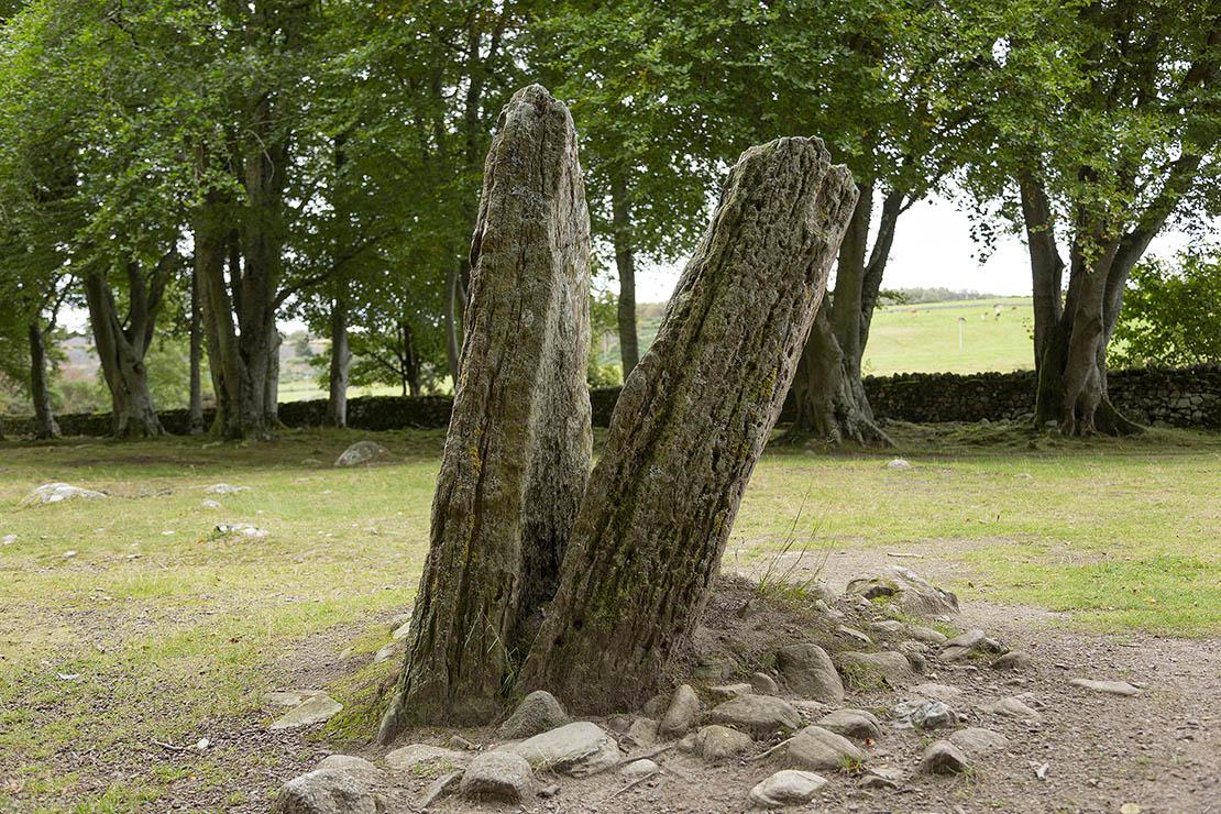 Interesting split stone near the ring cairns.