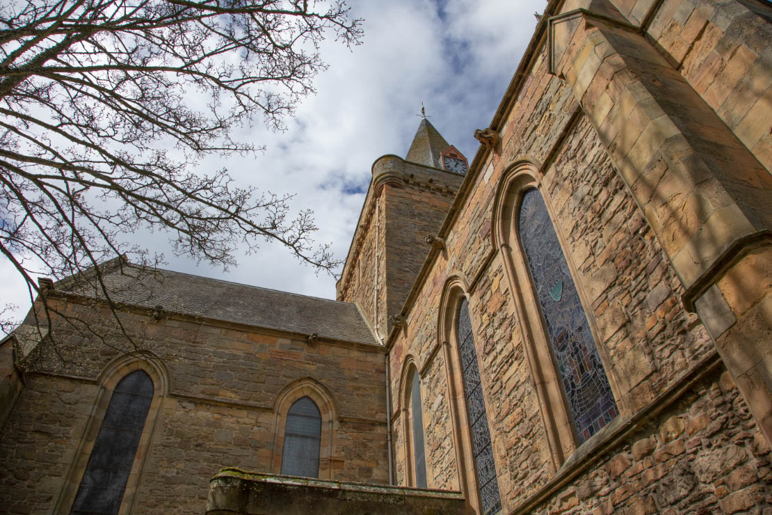 Exterior view of Dornoch Cathedral