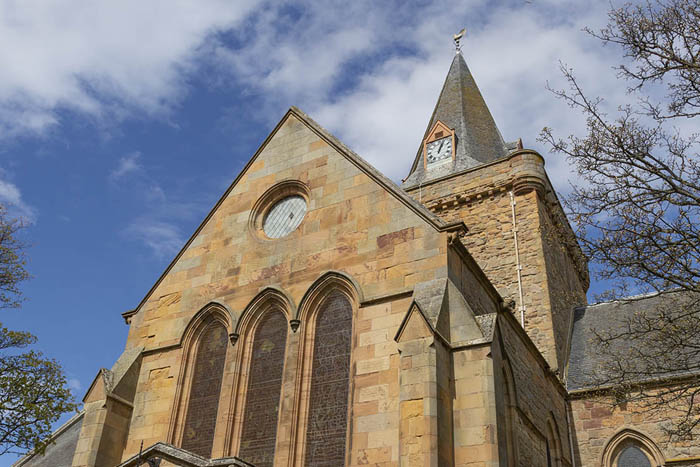 Dornoch Cathedral, 13th century church in the Scottish Highlands