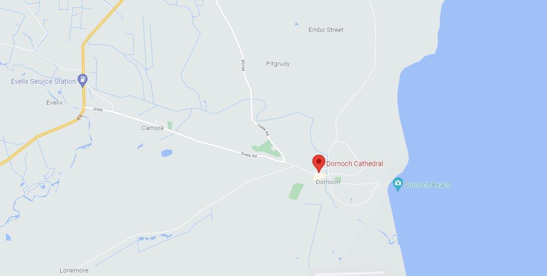 Location of Dornoch Cathedral