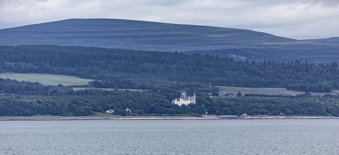 Looking across the bay to Dunrobin, across the North Sea. East coast of Highlands.