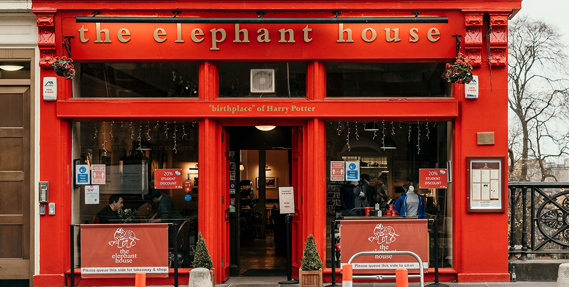 Edinburgh Elephant House, Harry Potter