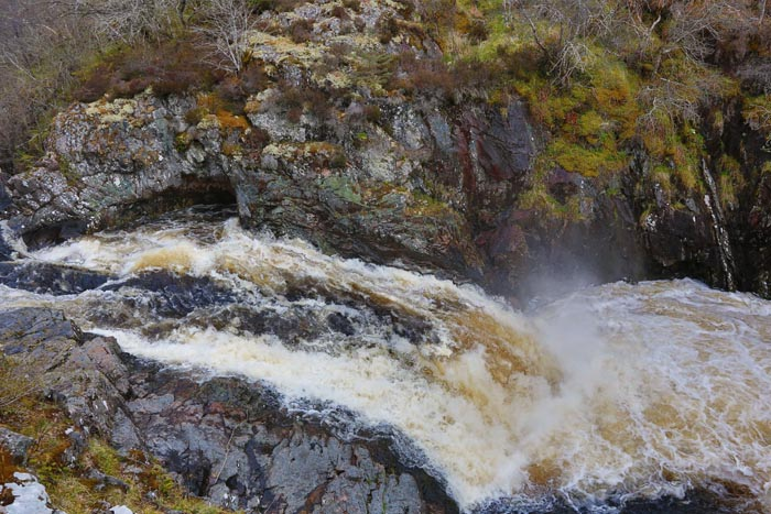 The Falls of Shin Waterfall and Salmon leaping, Sutherland