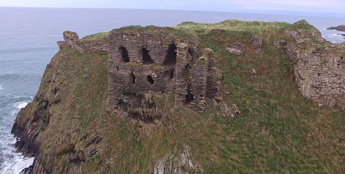 Findlater from the air   Scottish Castle