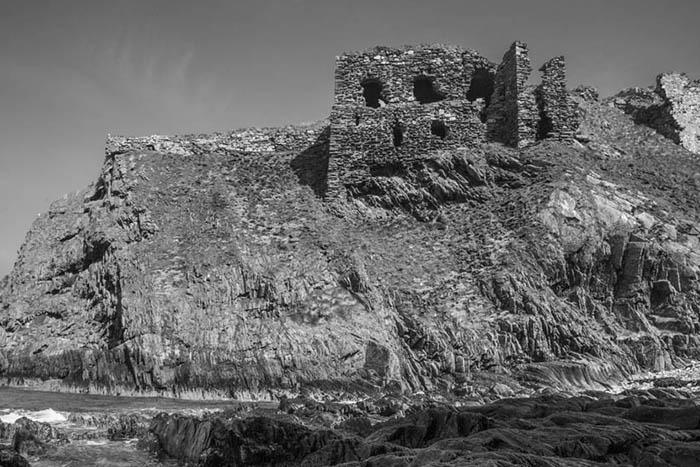 Findlater Castle on the Moray Firth Coast, near Banff