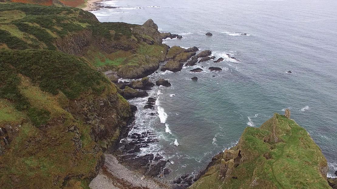 Cliffs at Findlater Castle