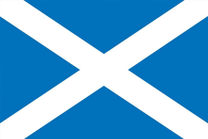 The Scottish Saltire - The Flag of Scotland