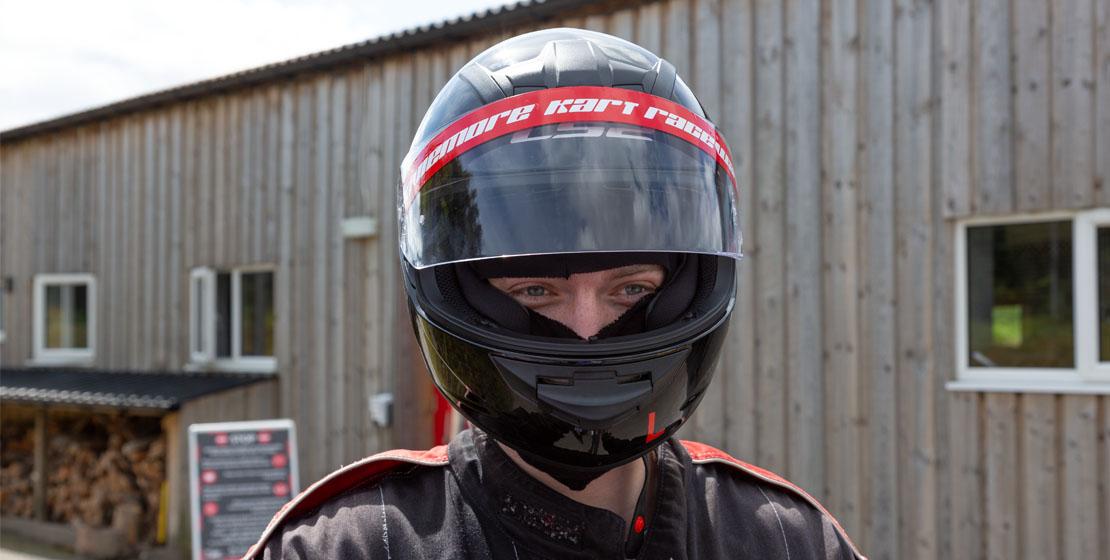 Safety gear at Aviemore Kart Raceway