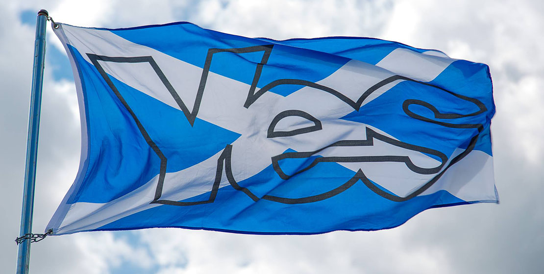 Yes Flag from the ill fated independence campaign in 2014.