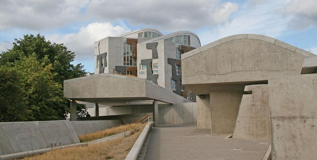 Scottish government building.