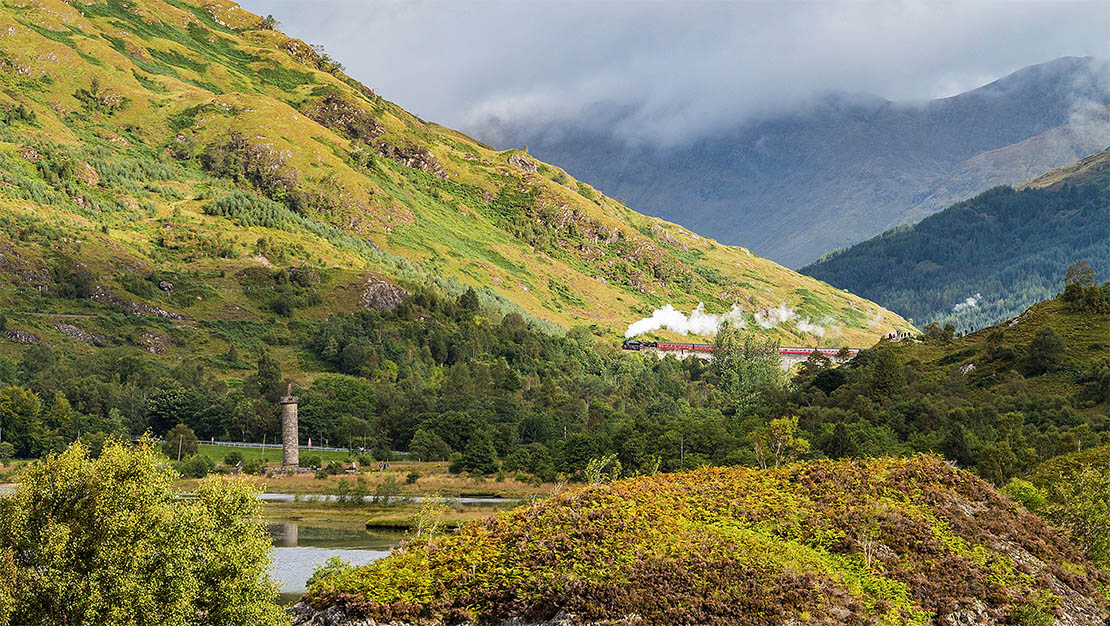 Passing the Glenfinnan monument