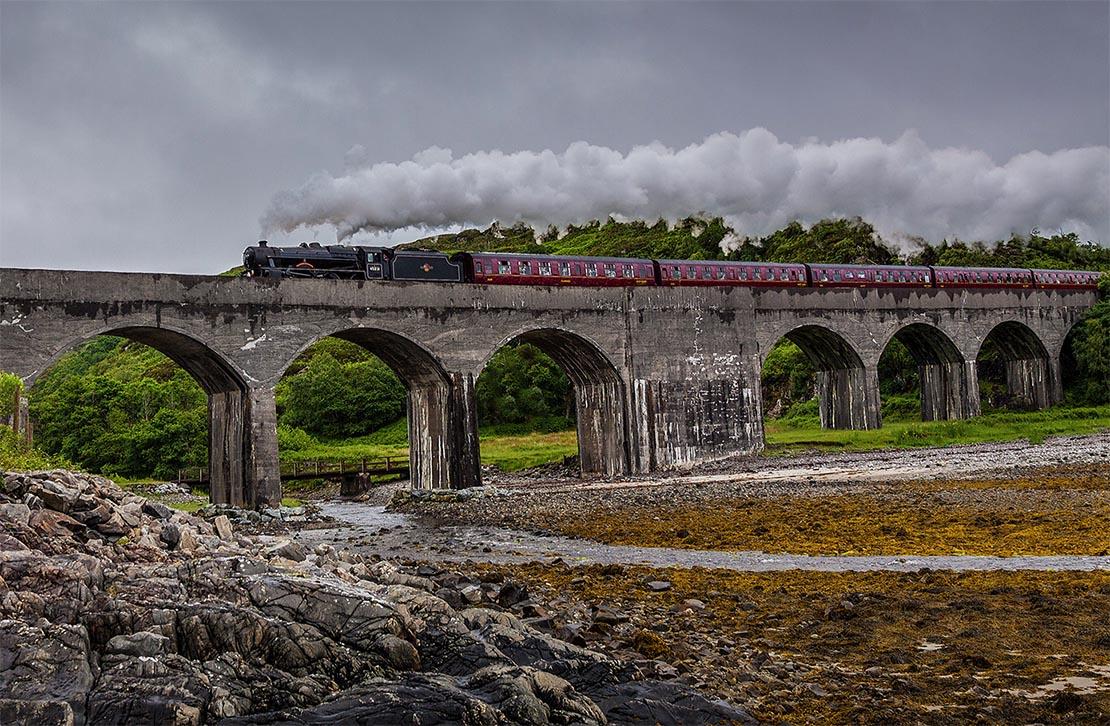 Train journey in west Scotland.