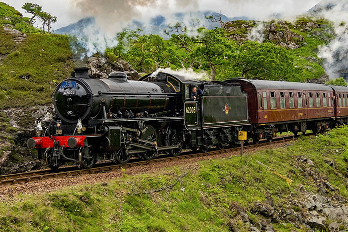 The Jacobite Steam train from Fort William to Mallaig.