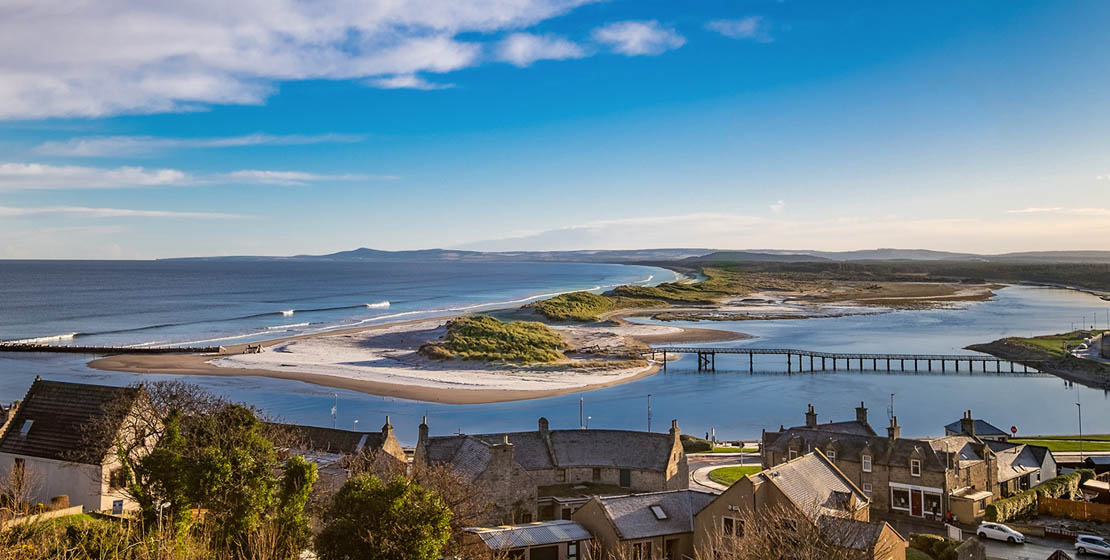 Lossiemouth and Cullen beaches are some of the finest in Moray.