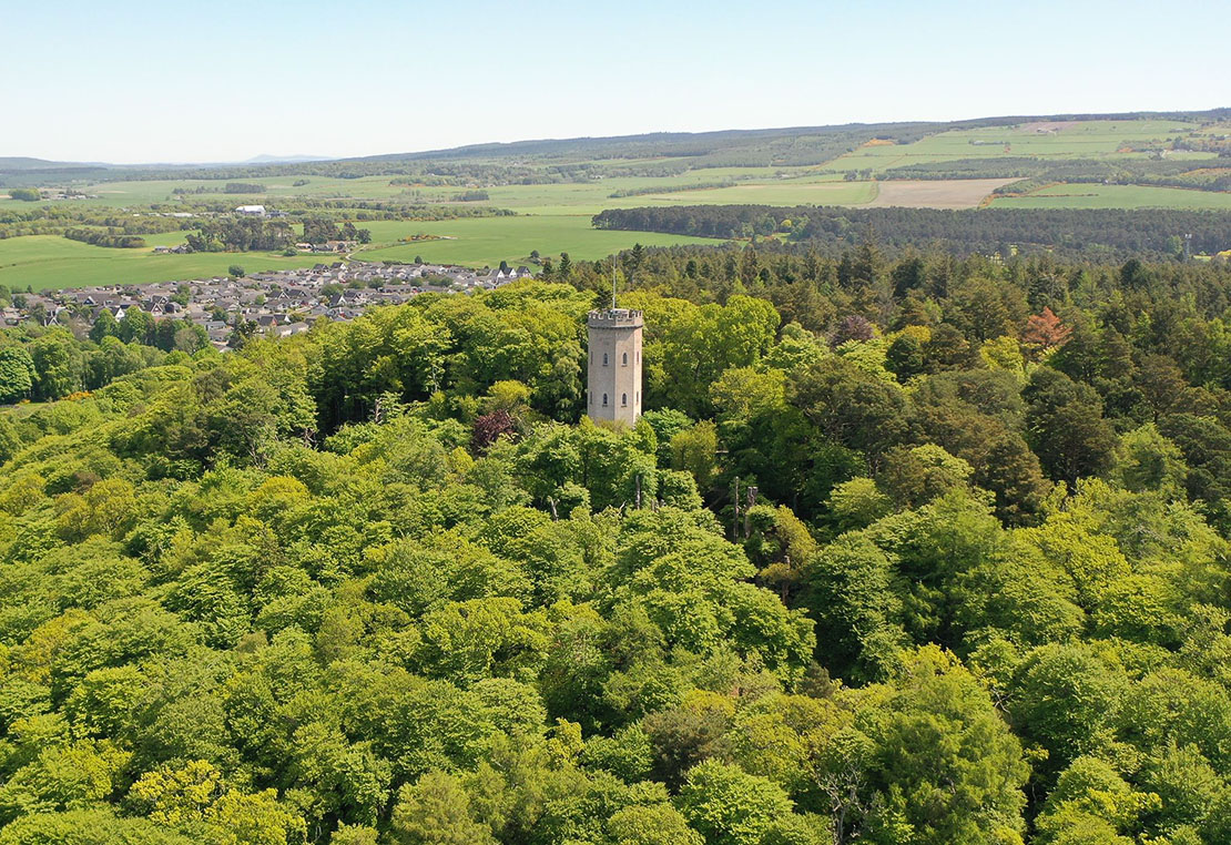 Nelson's Tower on Cluny Hill