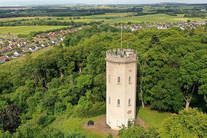 Nelson's Tower - monument to Lord Nelson  in Forres, Moray