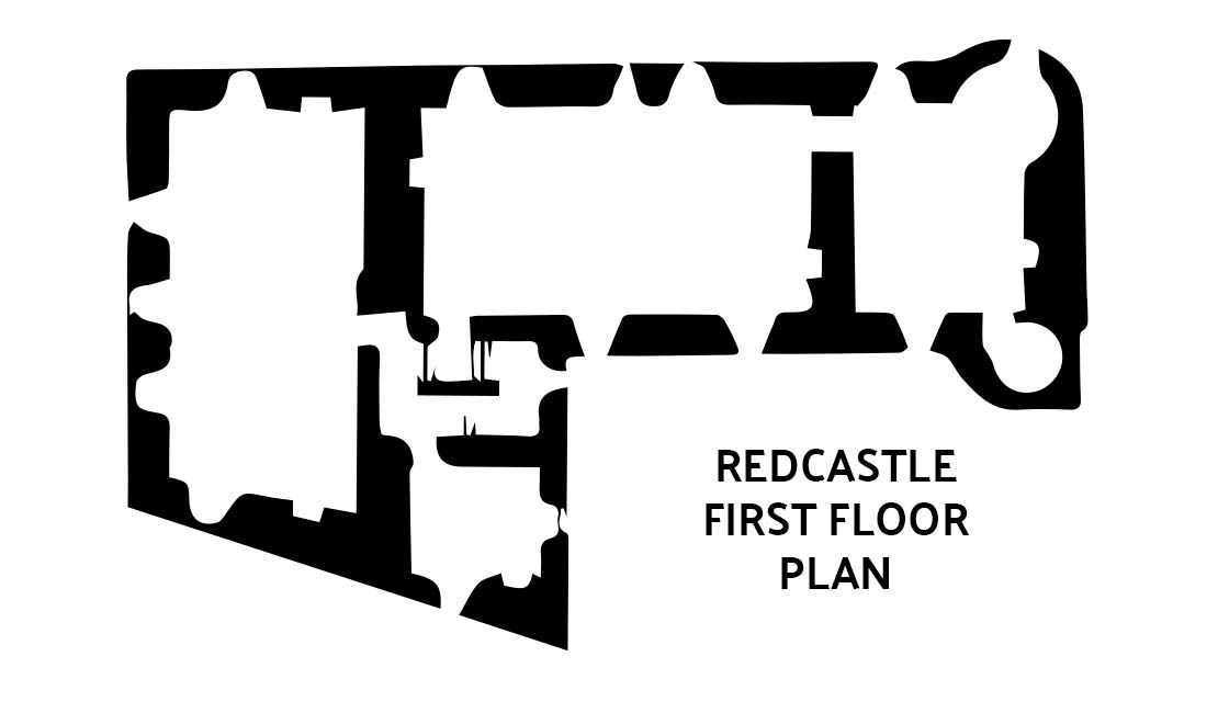 Redcastle floor plan showing large central apartment