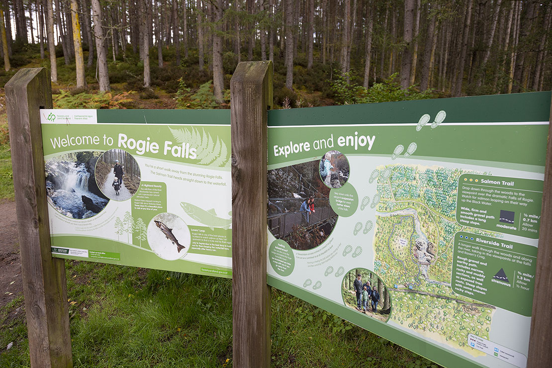 Informational board at the start of the walk.