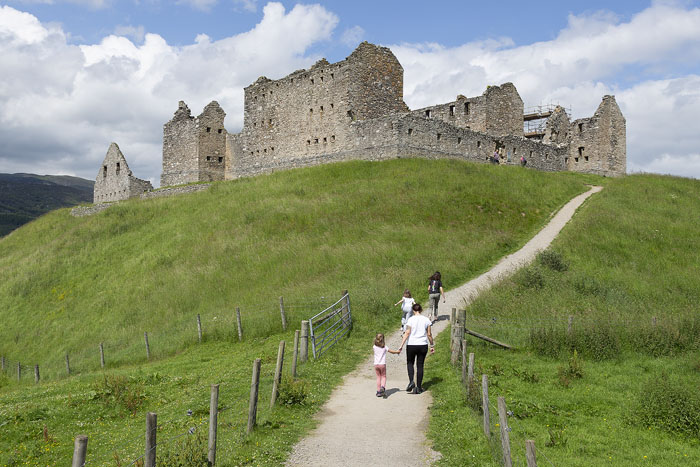 Ruthven Barracks near Kingussie in the great Spey Valley.