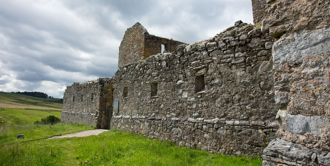 Side view of the entrance to Ruthven Barracks