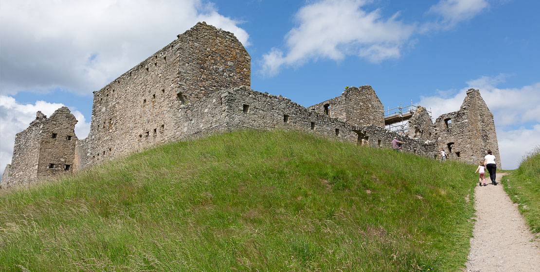 Path leading up to Ruthven Barracks