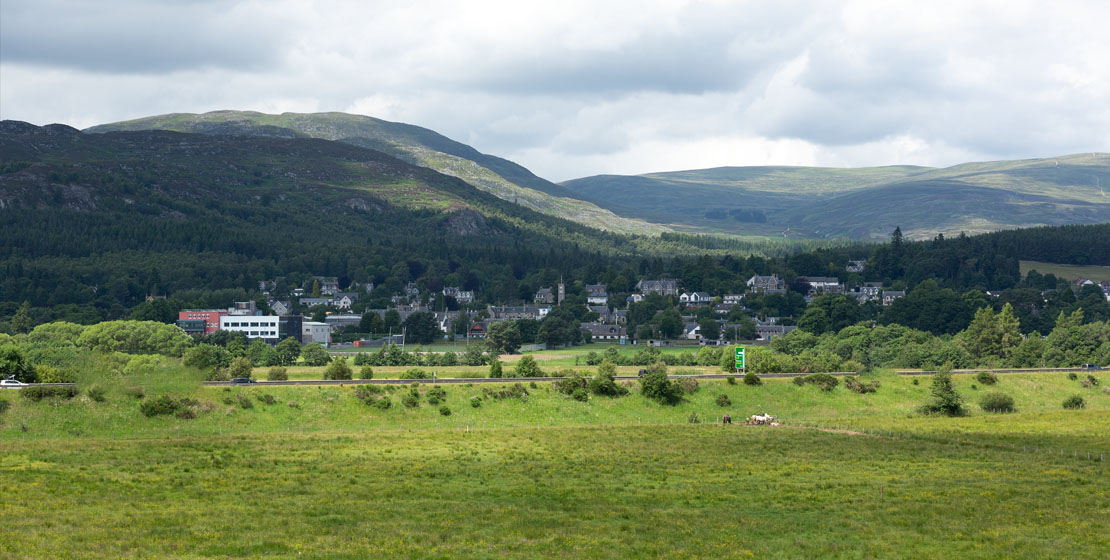 View towards Kingussie from Ruthven Barracks
