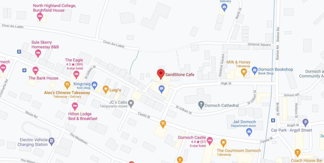 Location of Sandstone Cafe