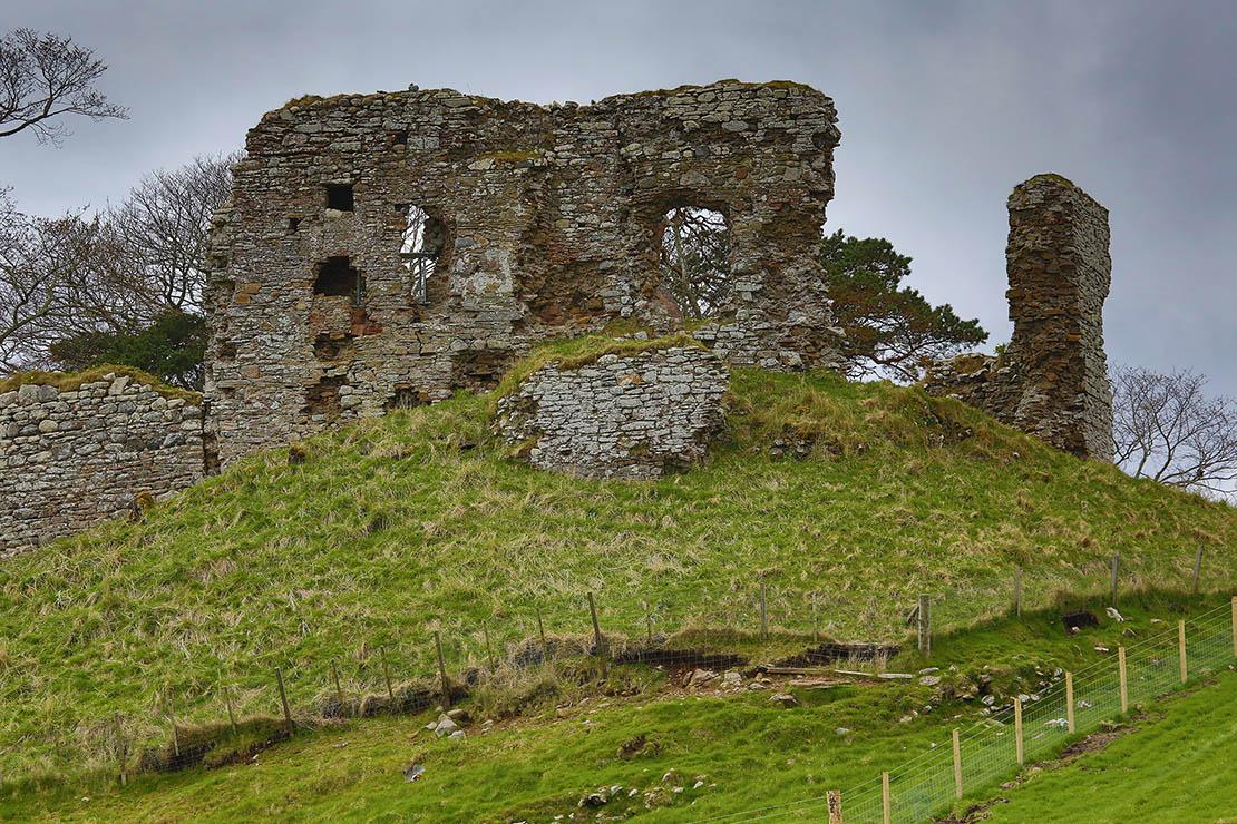 Skelbo Castle overlooking Loch Fleet | early Norman fortress