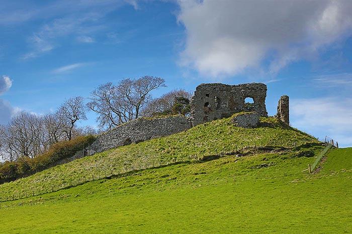 Skelbo Castle, overlooking Loch Fleet in Sutherland