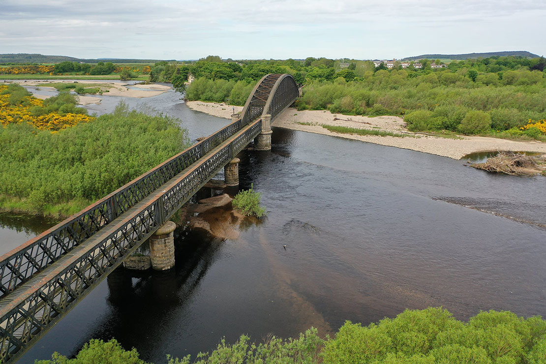 Spey Viaduct crossing the Spey River