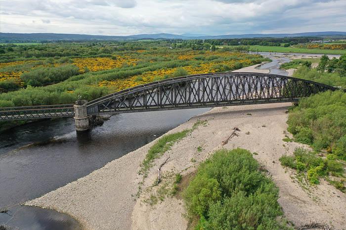 Spey Viaduct, disused railway bridge near Garmouth, Moray