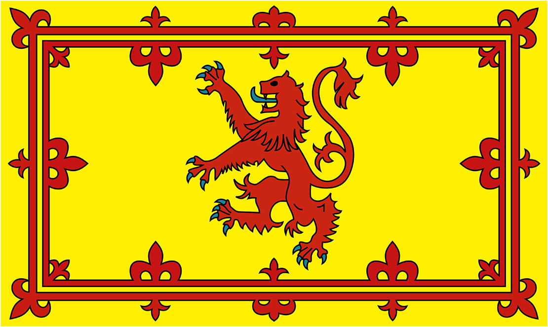 The Lion Rampant Royal Flag | Oldest national flags