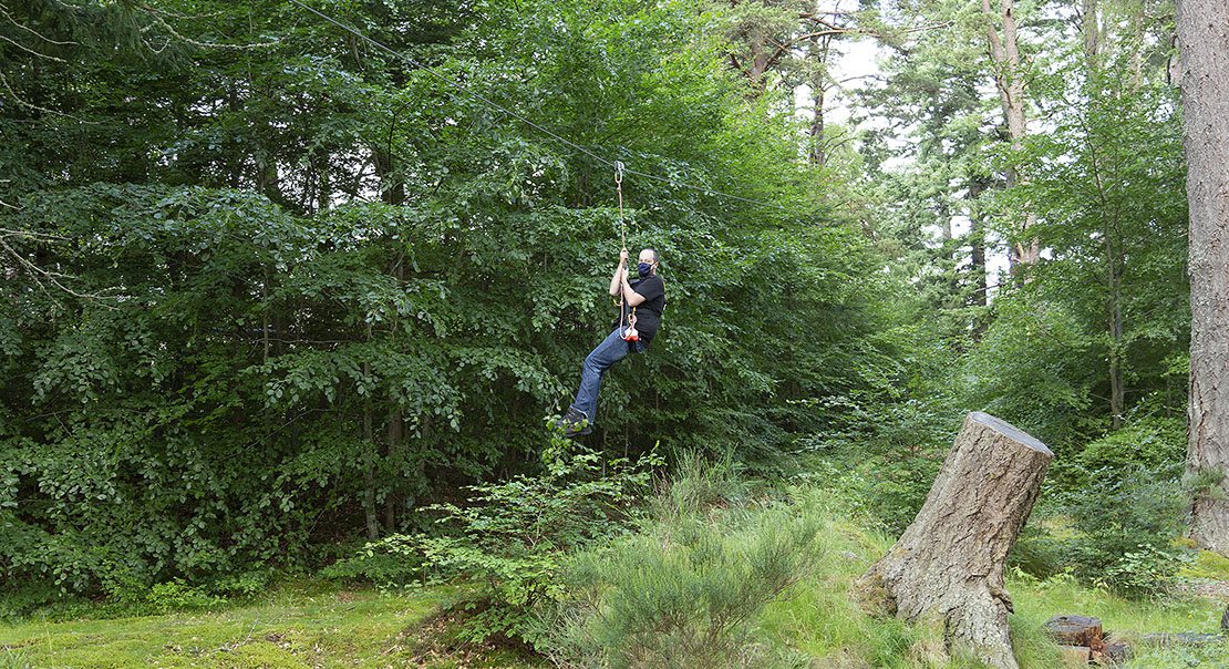 Zip Line at the end