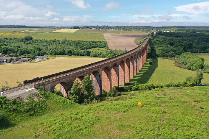 Visit the iconic Culloden Railway Viaduct, near Inverness
