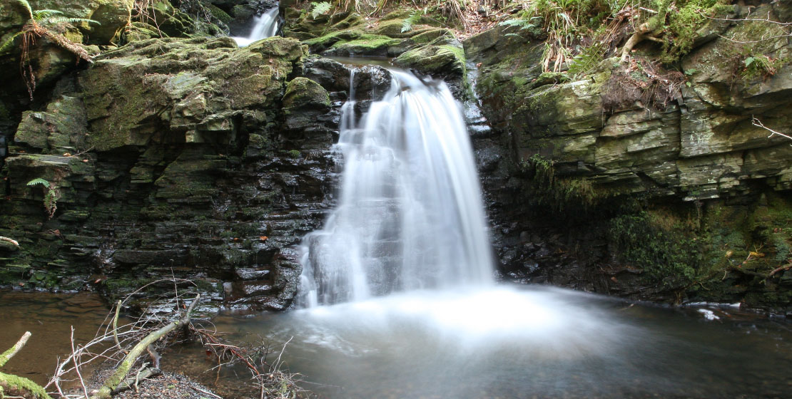 Waterfall near Cairnfield House