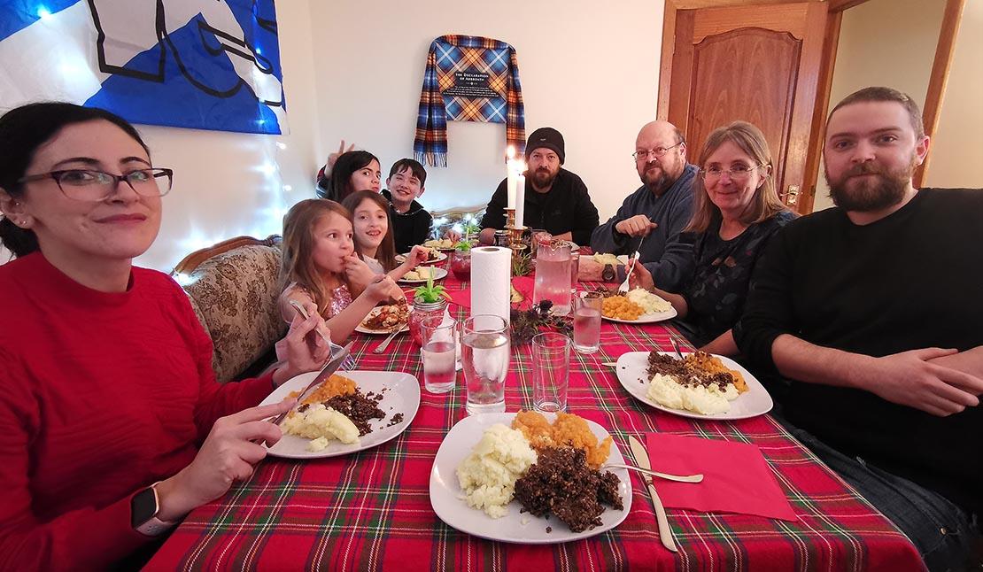 Burns Night showing Scottish cuisine - mashed swede