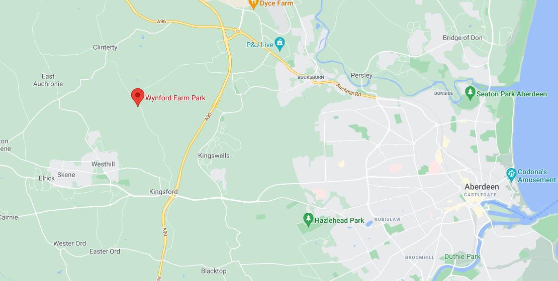 Map of Wynford Farm Park location