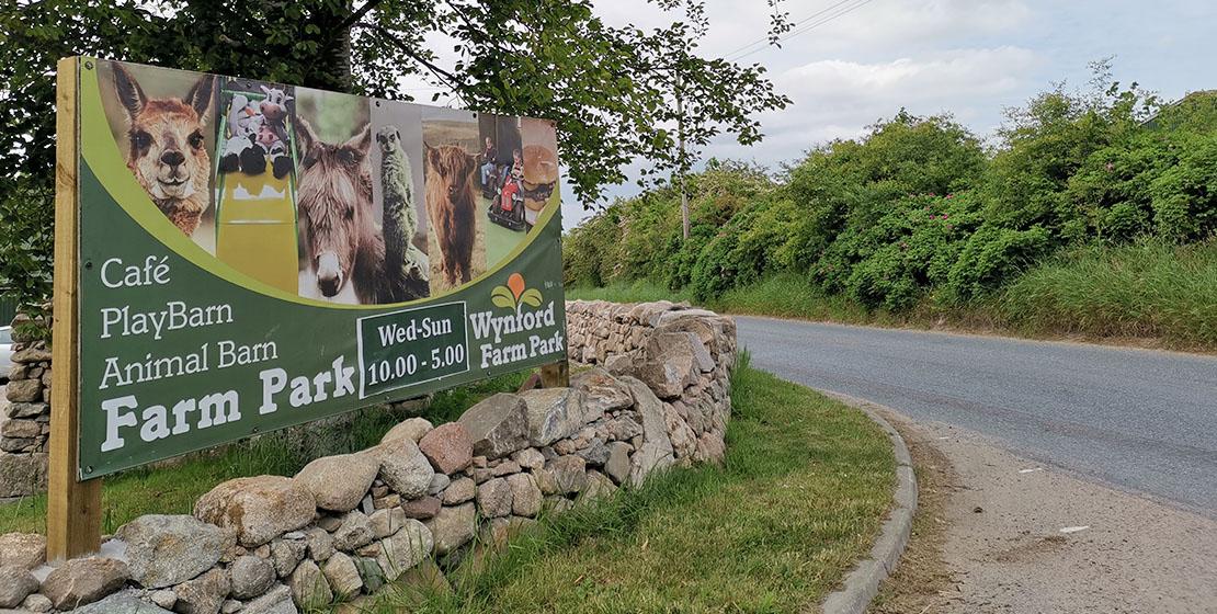 Wynford Farm Park Entrance   Huge soft play playbarn
